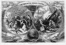 CIVIL WAR IN THE BORDER STATES STARVING WOMEN AND CHILDREN DEATH BY THOMAS NAST