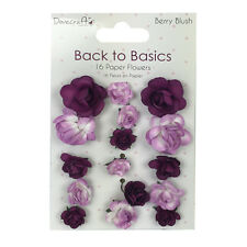 Dovecraft Back to Basics -Berry Blush Paper Flowers for cards and crafts