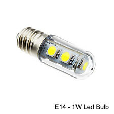 2 X E14 1W LED Mini Bulb Lamps for Fridge, Cabinet Refrigrator  WARM WHITE
