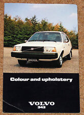 1977 volvo 343 couleurs & upholstery guide
