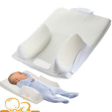 Newborn Baby Infant Anti Roll Pillow Sleep Positioner Prevent Flat Head Cushion