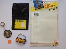 1983 Matt Houston Wallet ID Set And Key Chain With Original Packaging Back
