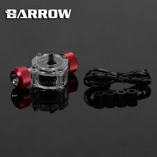 "Barrow G1/4""  Thread Blood Red Flow Indicator Meter With Sensor Water Cooling"