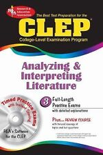 CLEP Analyzing & Interpreting Literature with CD-ROM (REA): The Best T-ExLibrary