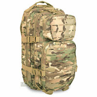 Mil-Tec Small Laser MOLLE Army Daysack Assault Pack Rucksack 20L Multicam MTP