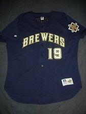 AUTHENTIC Russell Athletic Diamond ROBIN YOUNT Milwaukee Brewers Jersey 52 XXL