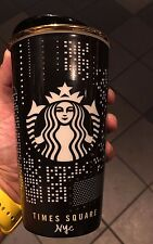 Starbucks New York Limited Edition TIMES SQUARE Tumbler Double Wall 12 Fl Oz