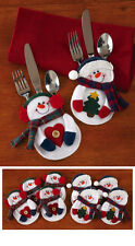 8 Pc. Christmas Frosty The Snowman Holiday Silverware Holders