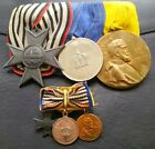 ✚7016✚ German WW1 mounted medal group + MINIATURES War Aid Cross Service Medal