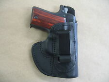 Sig Sauer 938, P938 9mm IWB Molded Leather Concealed Carry Holster CCW BLACK RH