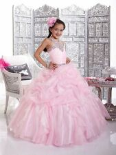 Girl kids Pageant Dress Bridesmaid Prom Party Princess Ball Gown Formal Dresses