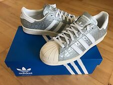 ADIDAS Superstar 80's Snakeskin Women's/Mens Trainers, Silver - Size 8