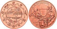 AUSTRIA 10 euro cobre 2016 S/C Austria en su conjunto