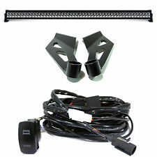 300W LED Light Bar Kit for Dodge Ram + Brackets + PnP Wiring Relay Roof Mount