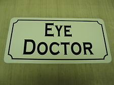 EYE DOCTOR Vintage Style Metal Sign Hospital Building Home Glasses Contact lens