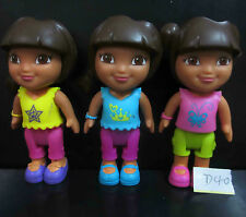 """LOT! 3 Fisher-Price Dora The Explorer Playtime Dora and Me ACTION FIGURE 3"""" #D40"""
