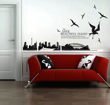 Sydney Harbour/Bridge/Ship/Sea Gull Bedroom Removable Wall Sticker/Decal/Paper