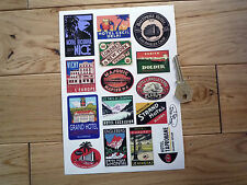 Style vintage luggage label voyage autocollant set vacances scrap booking fabrication carte