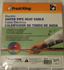 NEW Frost King Water Pipe Heat Cable 18' HC18 Electric No-Freeze Heating Tape