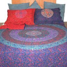 Reversible Duvet Cover 100% Cotton Handmade Mandala Block Print Full Queen