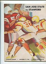 Stanford vs  San Jose State   College Football Program Sept 17,1966   MBX66
