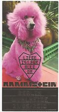Rammstein   In Concert 2010   Ticket / Konzertkarte / Eintrittskarte