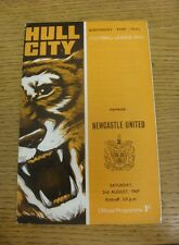 02/08/1969 Hull City v Newcastle United [Friendly] (Light Crease, Marks).  We ar
