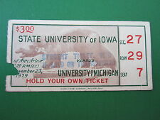 Michigan vs State University of Iowa 1929 Ticket Stub- RARE!