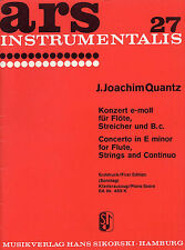 Joann Joachim Quantz Concerto in E-Minor Piano Score Play Flute Music Book