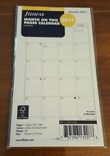 2017 FILOFAX Personal Month on Two Pages Diary/Calendar - 17-68410