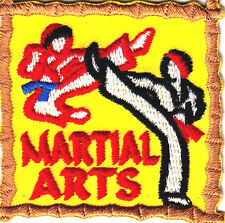 """""""MARTIAL ARTS"""" PATCH - SELF DEFENSE - SPORT/Iron On Embroidered Applique Patch,"""