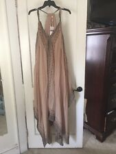 Free People NWT Tan Combo Merida Patterned Sleeveless Maxi Dress In XS/S