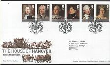 GB 2011 FDC Kings & Queens House of Hanover London Sw1 postmark stamps
