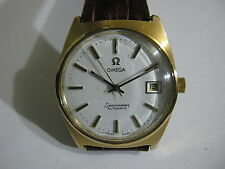 VINTAGE OMEGA SEAMASTER AUTOMATIC GOLD PLATED CAL.1010 DATE MEN'S WATCH 70'S