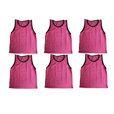 6 ADULT PINK Jersey practice uniform pinnie pennie lacrosse field hockey