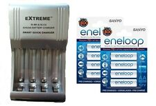 AA/AAA FAST 509 BATTERY CHARGER + 8 x AA ENELOOP RECHARGEABLE BATTERIES 2100 CHA