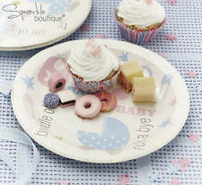 Baby Shower PAPER PLATES -Unisex Christening Party- FULL TINY FEET RANGE IN SHOP