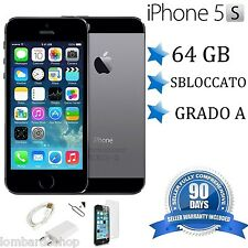 APPLE IPHONE 5S 64GB GRADO A NERO SPACE GREY ORIGINALE RIGENERATO RICONDIZIONATO