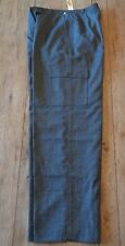 "NWT TALBOTS 100% Wool Dress PANTS Womens 10 x 31"" Dark Gray Side Pockets Lined"