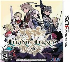 Legend of Legacy (Nintendo 3DS, 2015) Launch Day Editon Used Complete