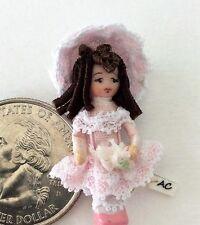 """Dollhouse Miniature Porcelain Dollhouse Doll Ethel Hicks """"Wee Carrie"""""""
