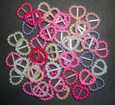 !SALE! 45 small Plastic buckles, doll sewing clothes, belts. MIXED HEARTS