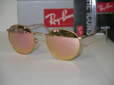 RAY-BAN ROUND METAL RB3447 112/Z2 MATTE GOLD/BROWN MIRROR PINK 50mm SUNGLASSES