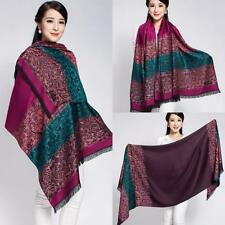 Double-Side Shawls Pashmina Scarves Scarf  Floral Wrap Colourful Fashion Stole