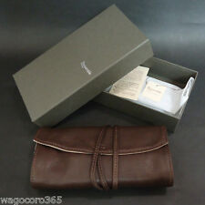 Pilot Roll Pen Case / Cowhide Leather / Pensemble for Five Pens Dark Brown / New