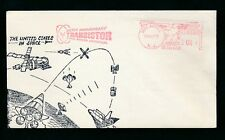 USA METER FRANKING TRANSISTOR ANNIVERSARY 1973 SPACE ILLUSTRATED HOLMDEL NJ