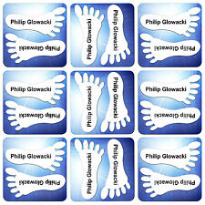 10 PAIRS OF PRINTED NAME LABELS - TAPES - TAGS FOR SHOES