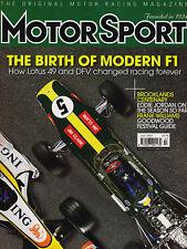 Motor Sport Jul 2007 - Lotus 49, Gulf Mirage, Camaro IROC, Surtees on Clark, DFV