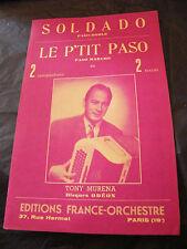 Partition Soldado Le p'tit paso Tony Muréna Music Sheet 1956