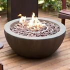 Outdoor Fire Pit Propane Gas Backyard Patio With Tank Hideaway Table and Cover